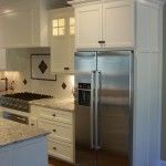 painted maple custom cabinets Providence