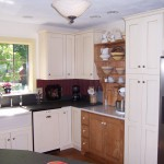 painted maple custom cabinets Lincoln