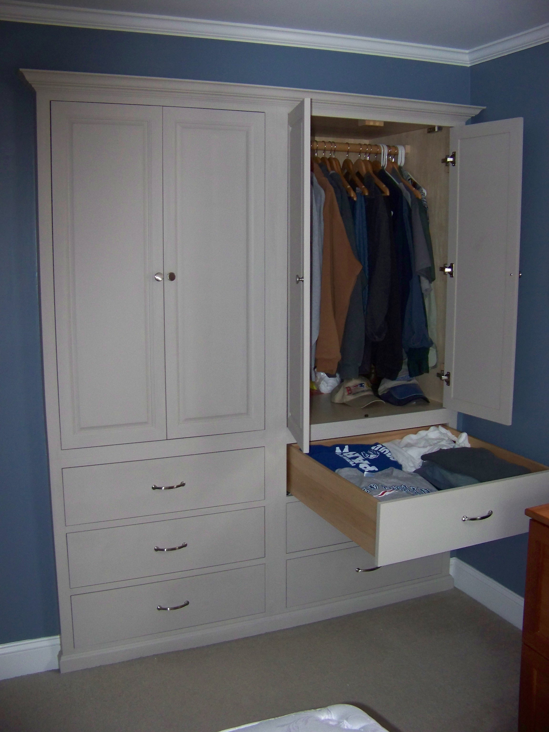 Built in Closet Cabinets RI KMD Custom Woodworking